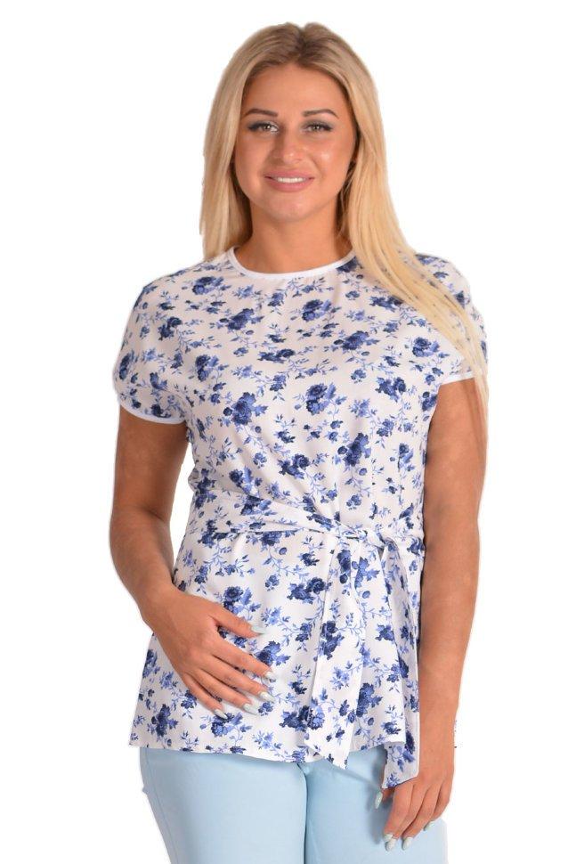 Блуза штапельная Аморет (цветы)