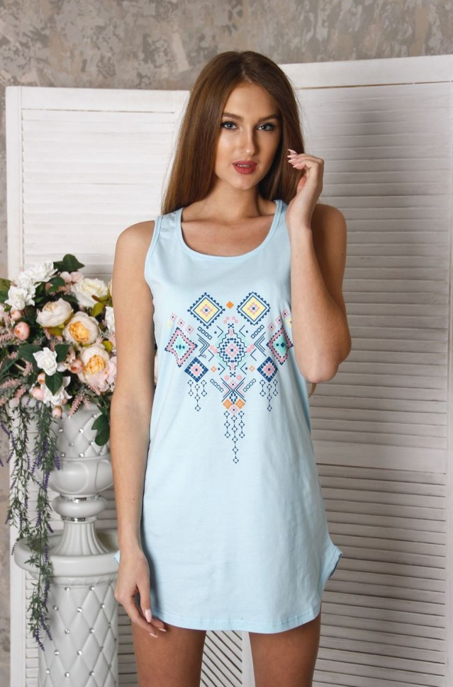 Ночная сорочка Беатрис (голубая)