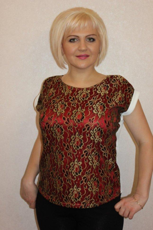 Блуза трикотажная Ава (красная)