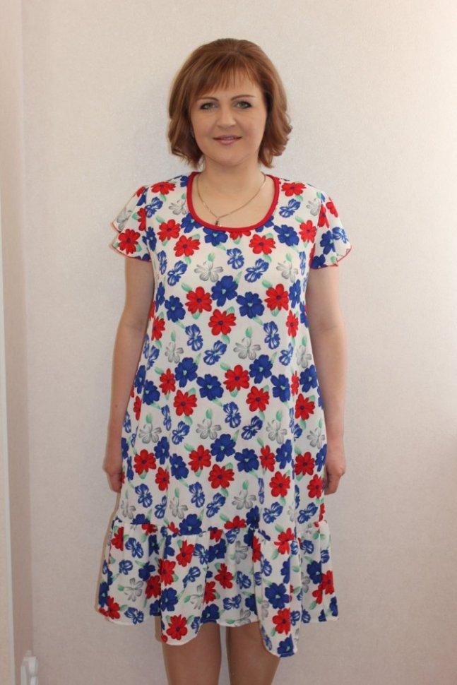 Платье трикотажное Регана (белое)