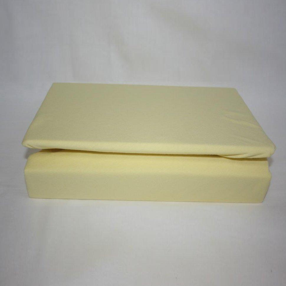 Простынь на резинке трикотажная 120x200 (желтая)