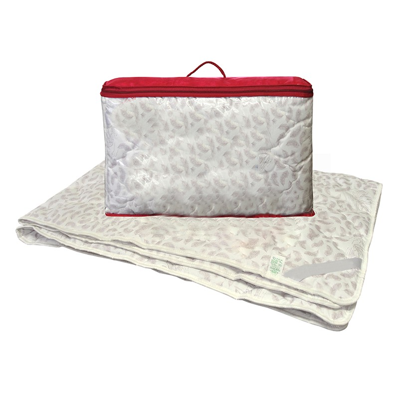 Одеяло лебяжий пух 1,5-сп. с чехлом из поплина (теплое) цены онлайн