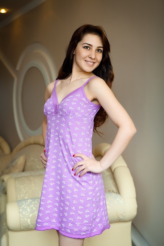 Ночная сорочка ДжоаннаНочные сорочки<br><br>Цвет: Фиолетовый; Размер RU: 40, 42, 44, 46, 48, 50, 52;