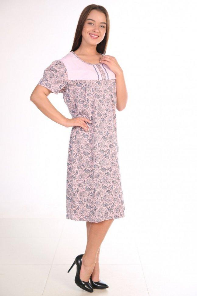 Ночная сорочка Нинелла (серо-розовая)