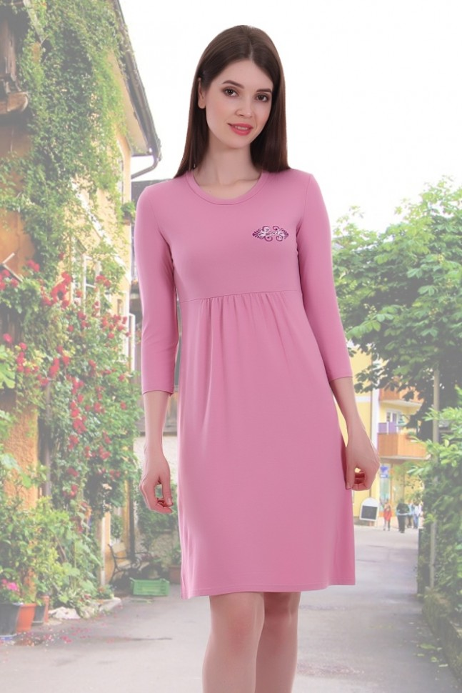 Платье вискозное Тоня (розовое)Платья<br><br>Цвет: Розовый; Размер RU: 42, 44, 46, 48, 50, 52;