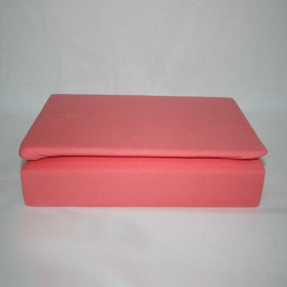 Простынь на резинке трикотажная 160x200 (коралловая)Простыни на резинке<br><br>Цвет : Красный;