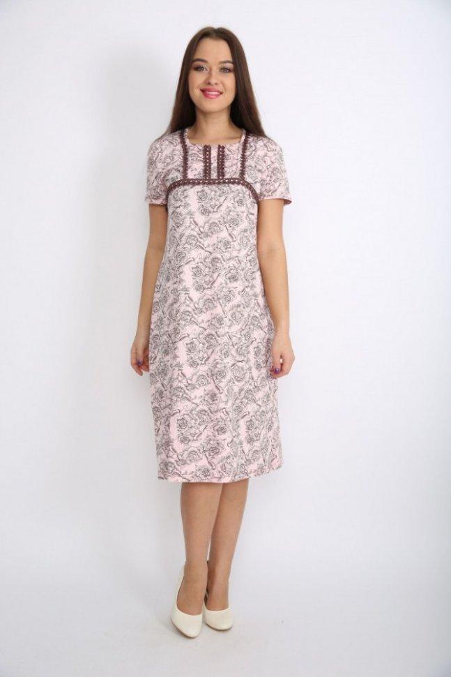 Ночная сорочка ПортияНочные сорочки<br><br>Цвет: Розовый, Коричневый; Размер RU: 48, 50, 52, 54, 56, 58;