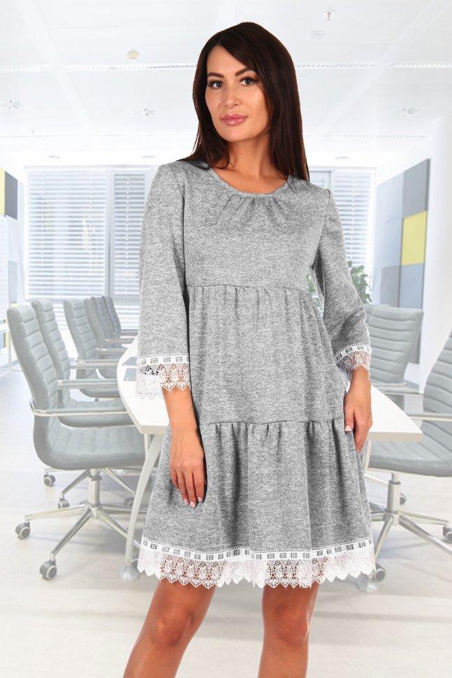 Купить со скидкой Платье трикотажное Дакота (серое)