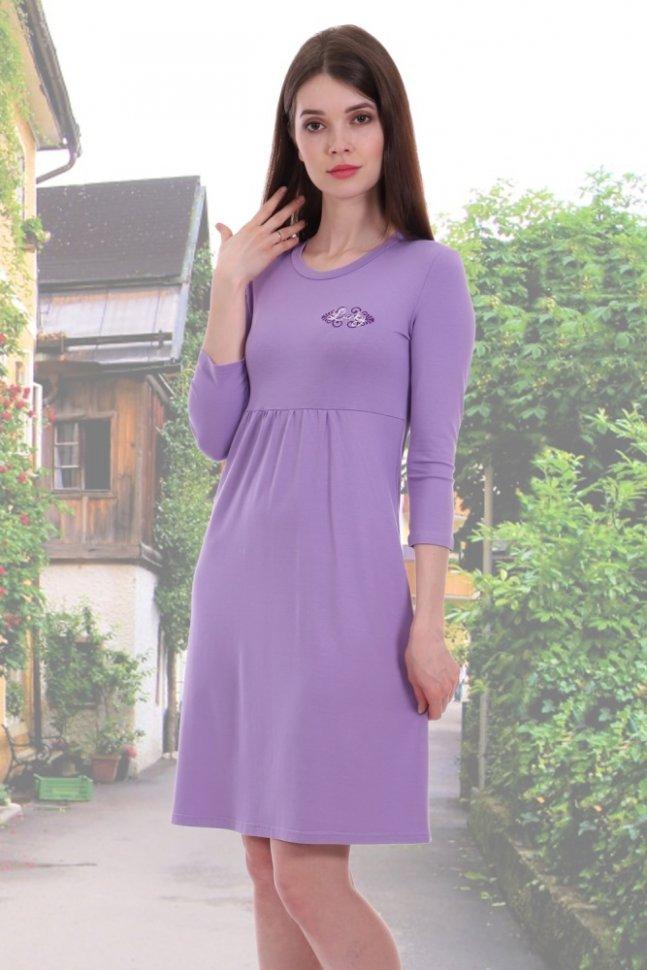 Платье вискозное Тоня (сиреневое)Платья<br><br>Цвет: Фиолетовый; Размер RU: 42, 44, 46, 48, 50, 52;