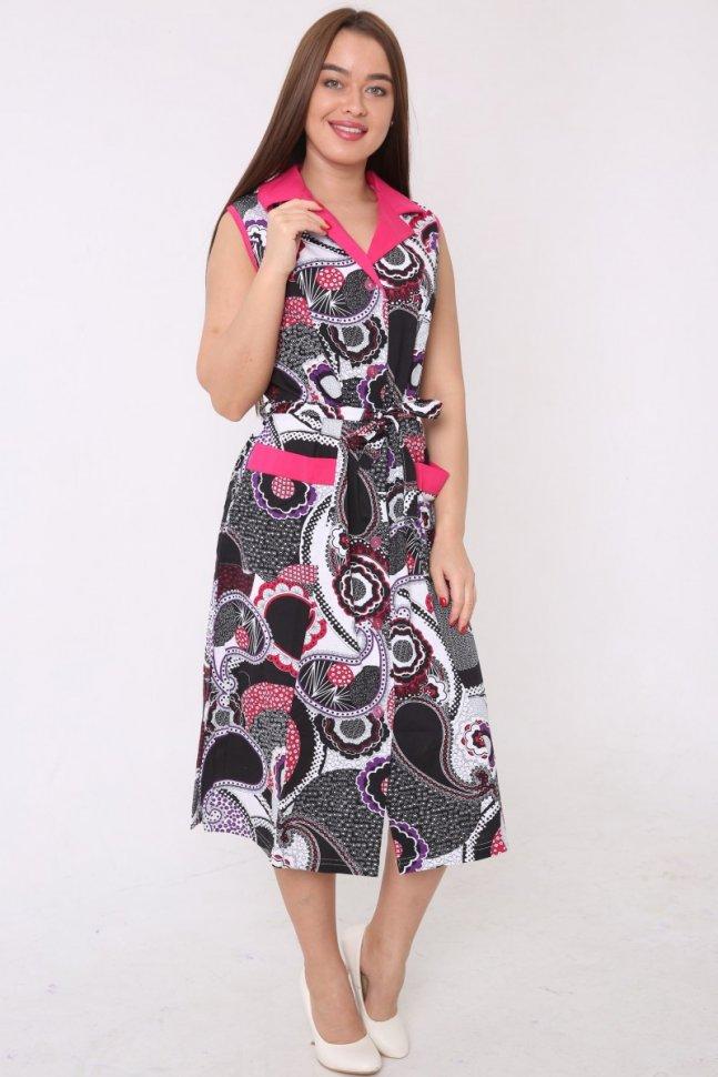 Халат трикотажный Сеона (серо-розовый) жакет klingel цвет серо розовый