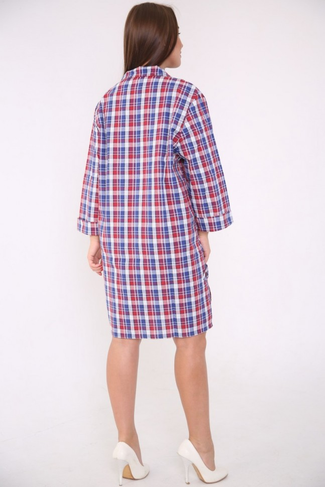 Рубашка-халат Астра (синяя)