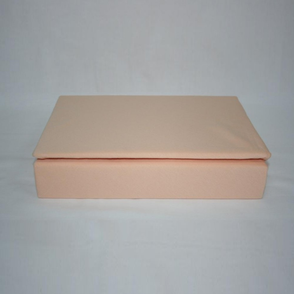 Простынь на резинке трикотажная 90x200 (персиковая)Простыни на резинке<br><br>Цвет : Оранжевый;