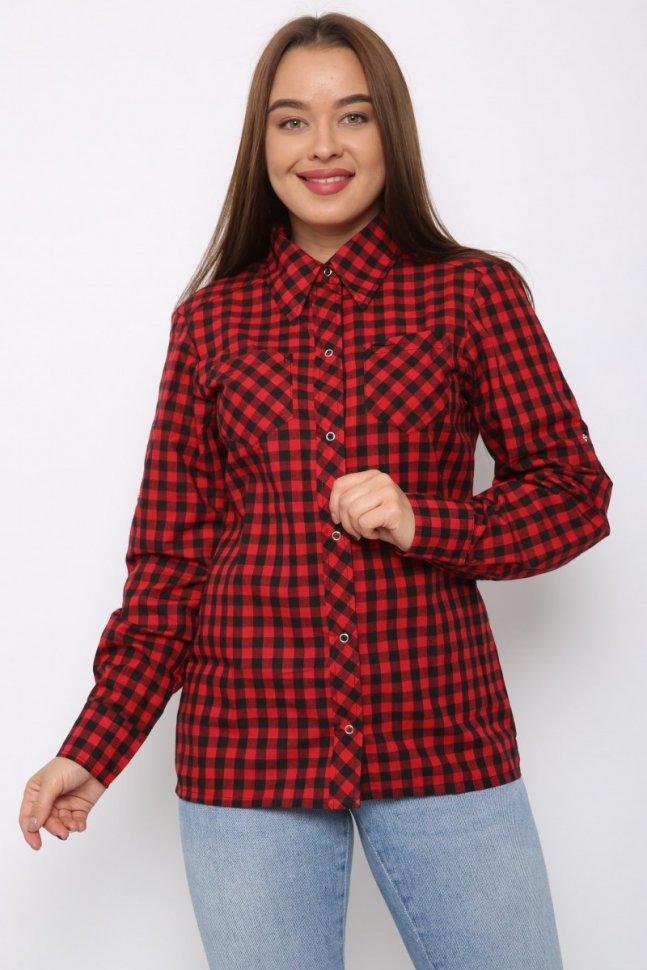 Рубашка трикотажная Дайна (красная) красная рубашка