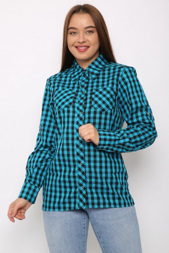 Рубашка трикотажная Дайна (голубая)