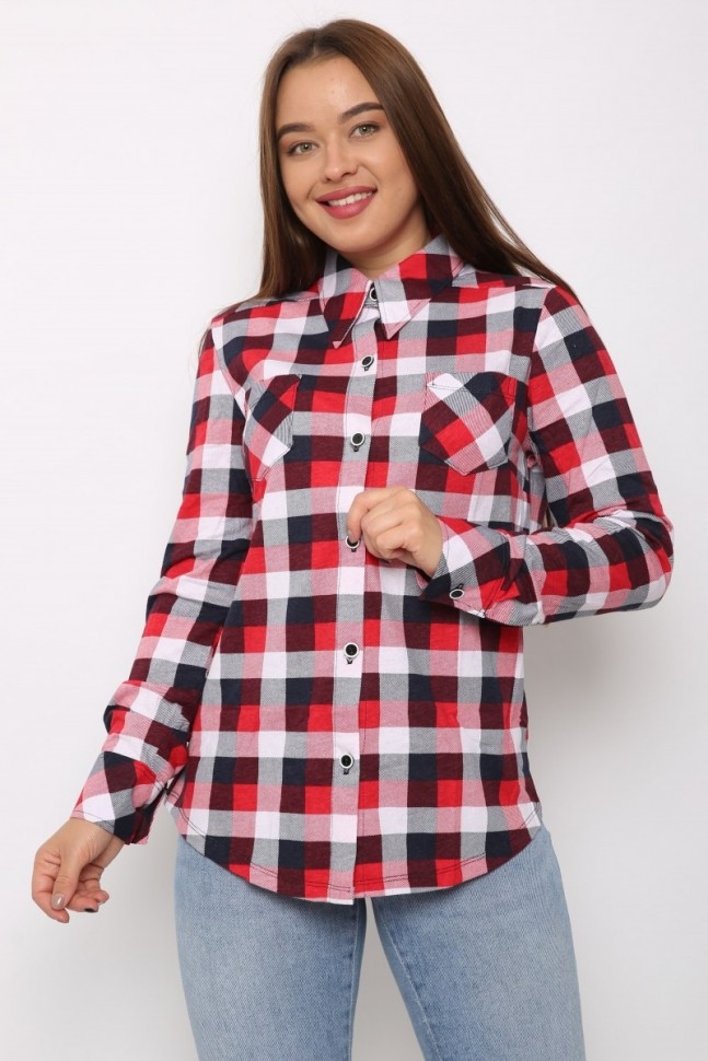 Рубашка трикотажная Гениста (красная) красная рубашка