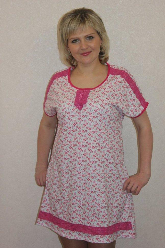 Ночная сорочка Мисти (розовая)Ночные сорочки<br><br>Цвет: Белый, Розовый; Размер RU: 48, 50, 52, 54, 56, 58, 60, 62;
