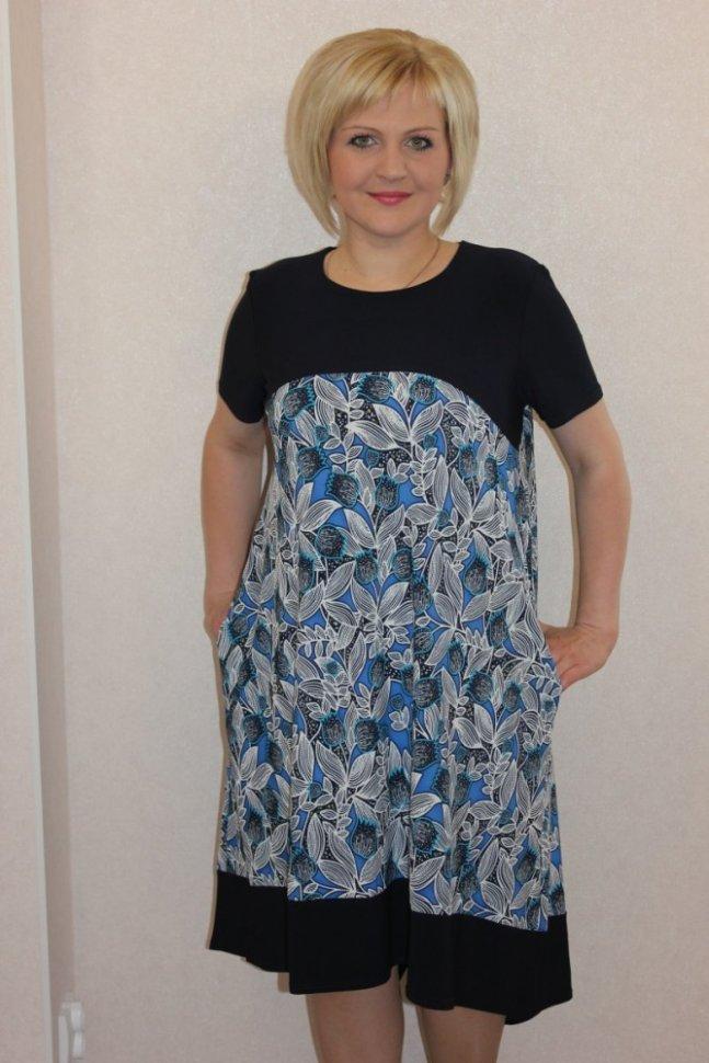 Платье трикотажное БроукПлатья<br><br>Цвет: Серый, Черный; Размер RU: 48, 50, 52, 54, 56, 58, 60, 62;