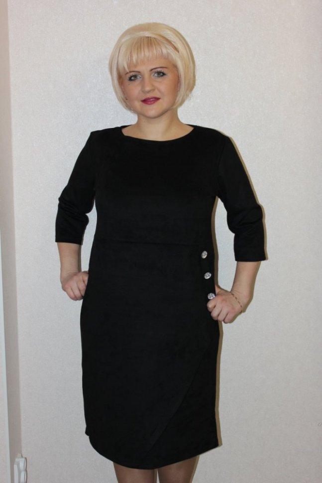 Платье трикотажное Хезер (черное)
