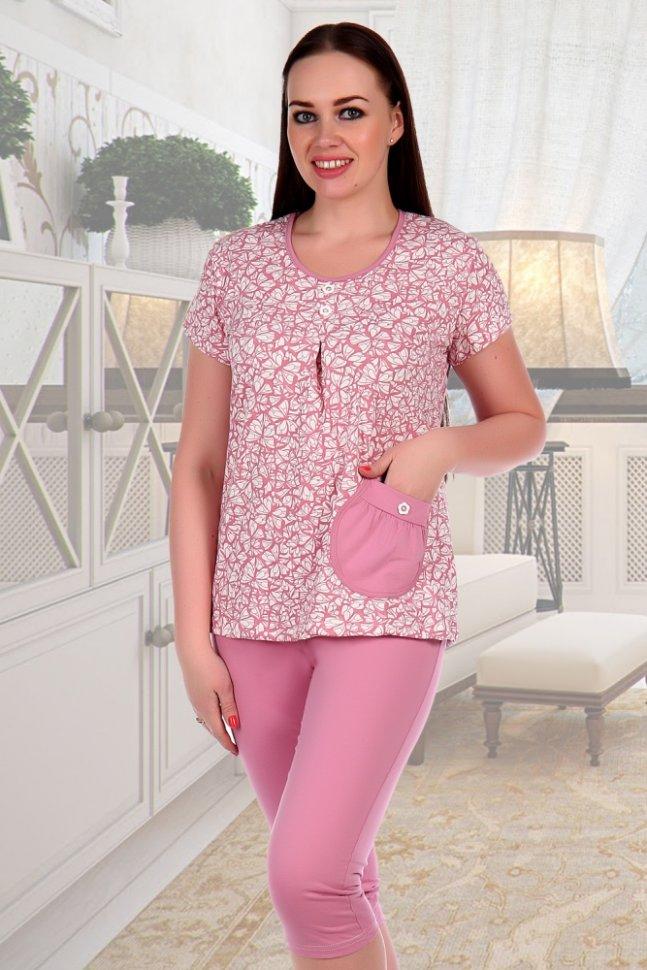 Пижама трикотажная Лоза (розовая)Пижамы<br><br>Цвет: Розовый; Размер RU: 48, 50, 52, 54, 56, 58;