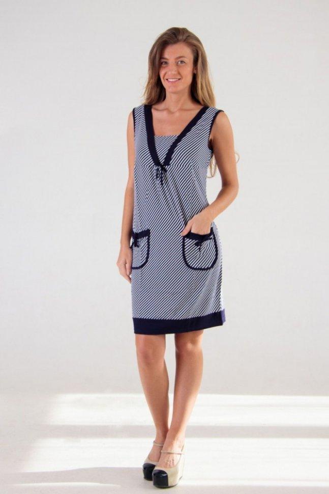Платье трикотажное Обри (полоска)