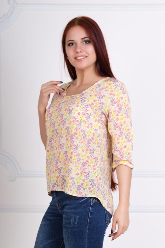 Блуза трикотажная Изабелла (бежевая)