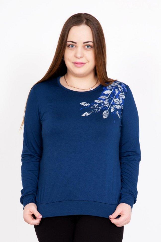 Блуза вискозная Лира (синяя)